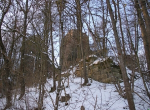 Burgruine im Winter_3