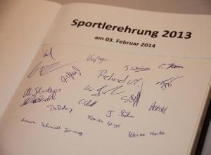 Sportlerehrung 2013